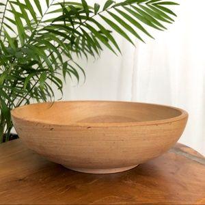 Vintage Japanese Wooden Bowl Large Serving Size